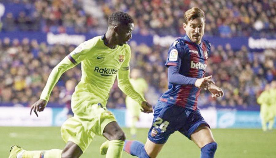 Un Barcelona lleno de suplentes cae ante Levante en la justa copera