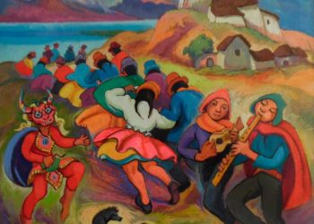 Fiesta andina. Técnica: oleó sobre lienzo (2016)