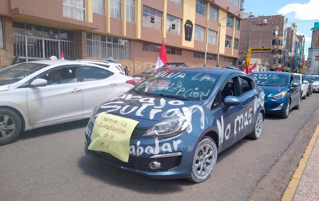 Transportistas colectivos manifestaron en las calles - Los Andes Perú