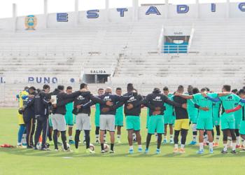 Concentración para el partido del domingo en Juliaca.