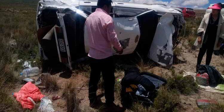 Accidente deja 1 muerto en la vía Tiquillaca - Puno.