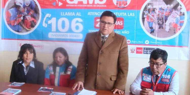 Director de la Diresa Jorge Montesinos Espinoza..