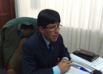 Fredy Vilcapaza, Gerente General de la Municipalidad Provincial de Puno.