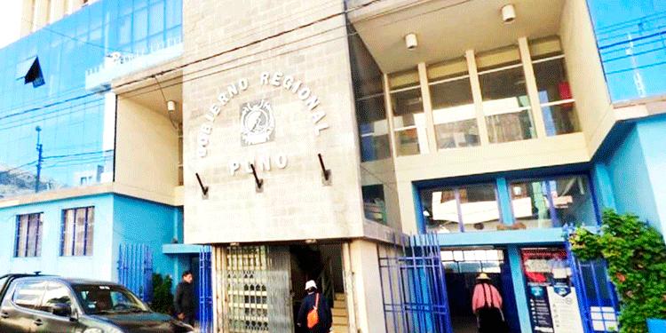 Instalaciones del Gobierno Regional de Puno.
