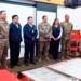 Jefes de las ODPE Puno  y San Román en reunión con representantes del Ejército y Marina.
