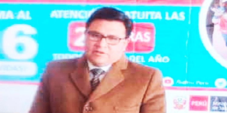 Jorge Montesinos Espinoza, Director Regional de Salud Puno.