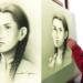 José Luis Barriga dibujando el rostro sublime de Rita Puma Justo.
