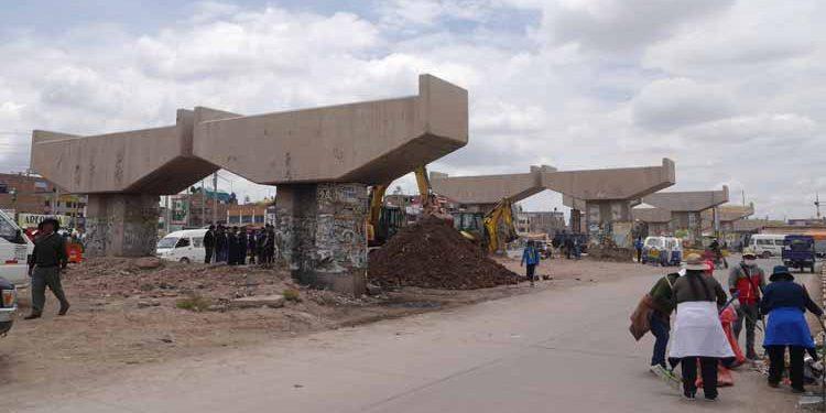 Obra de By-pass de la ciudad de Juliaca convertido en elefante blanco.