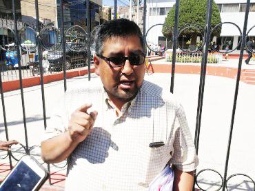 Orlando Fernández Sejje, presidente de la Central de Barrios de Juliaca.