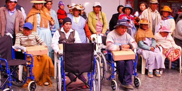 Personas con discapacidad con mayor porcentaje en Puno.