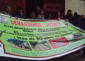 Principales dirigentes del Valle de Tambopata exigen la pronta respuesta de la autoridad.