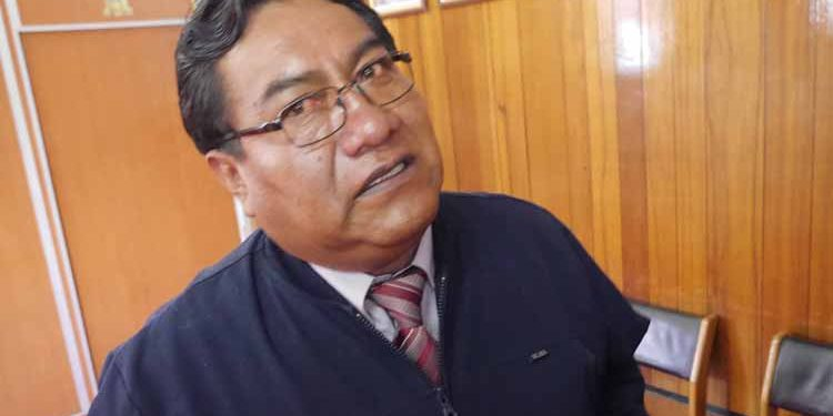 Alcalde de la Provincial de San Román, David Sucacahua Yucra.