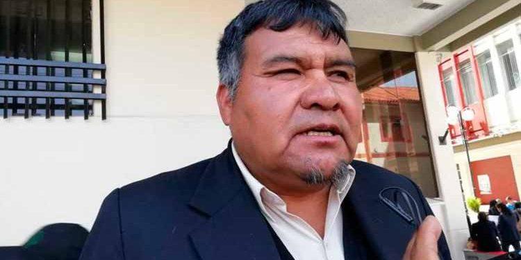 Secretario del SIDUNA, Fermín Mestas Pacompia.