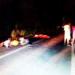 Vehículo de la PNP sufre aparatoso accidente.