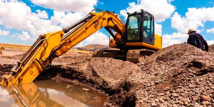 Verifican extracción ilegal de arena en los ríos de Juliaca.