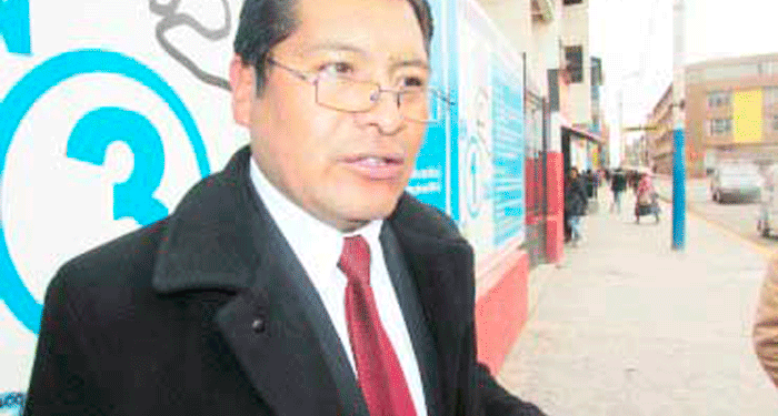 Wilber Apaza Díaz, prefecto regional de Puno.