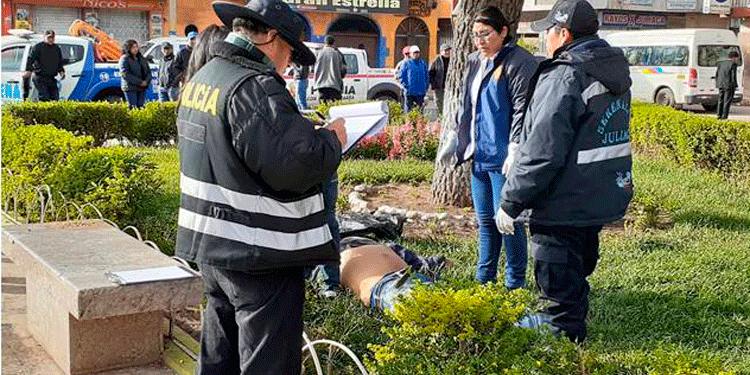 Apareció muerto en medio de la plaza Bolognesi