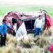 El vehículo quedo con severos daños materiales.