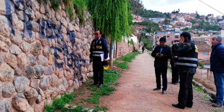 Desconocidos pintan con aerosol muro de origen inca en la ciudad de Cusco (Andina).