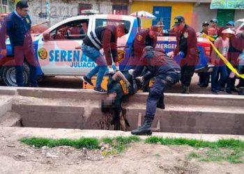 Serenazgo y la PNP sacaron el cadáver del canal.