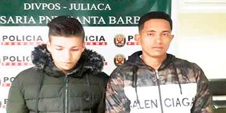 venezolanos fueron detenidos tras ser acusados de robo.