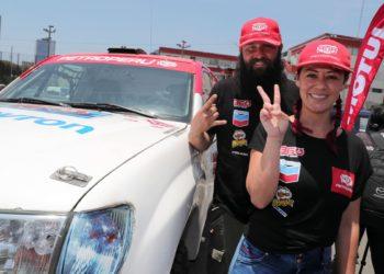 Única mujer de Sudamérica en competencia automovilística.