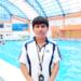 Entrenador de natación Raúl Jaime Colorado Mamani.