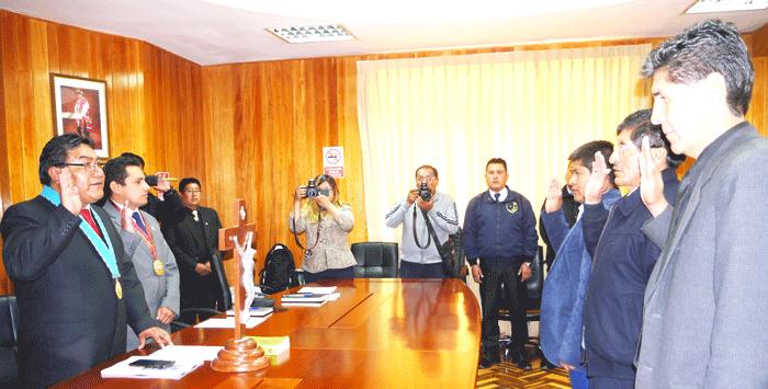 Autoridades juramentaron en el COPROSEC.