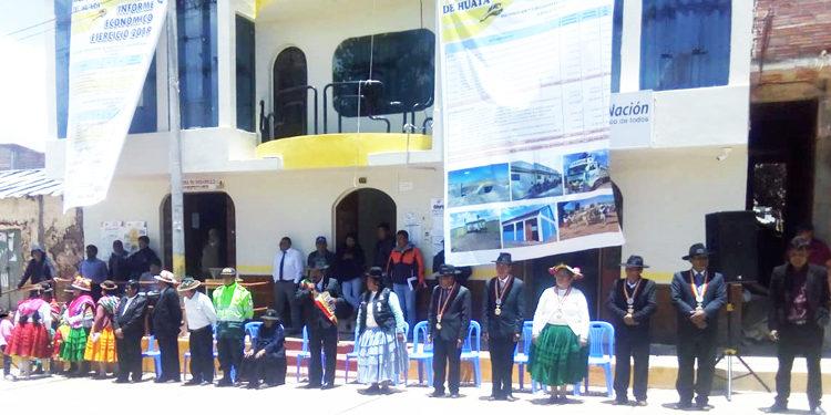 Autoridades suspenden informe económico en el distrito de Huata debido a la ausencia de la sociedad civil.