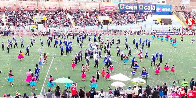 Concurso en el estadio Enrique Torres Belón.
