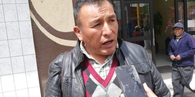 Dirigente del Frente de Defensa del Río Coata.