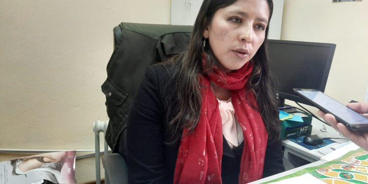 Gerente de Gestión Integral de Residuos Sólidos, Claudia Ramos Nina.