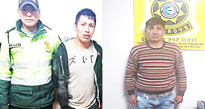 Dos presuntos delincuentes fueron capturados por la policia tras haber hurtados mototaxis.