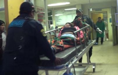 Joven que intentó quitarse la vida la ingresando al hospital.