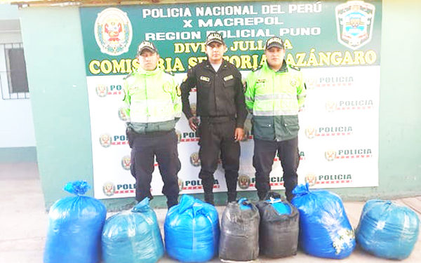 Mercancía ilegal fue llevada a los almacenes del Enaco Juliaca.
