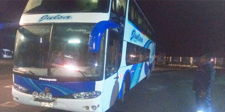 Omnibus de la empresa Julsa fue intervenido y llevado a la comisaria.