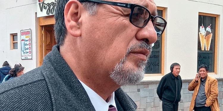 Piter Jesus Manzaneda, decano del colegio de abogados.
