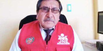 Presidente del Jurado Electoral Especial San Román, Jovito Salazar Oré.