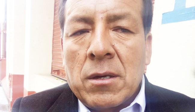 Walter Mamani, presidente del consejo regional darán un plazo de menos de 15 días a Agustín Luque para que se presente al consejo regional.