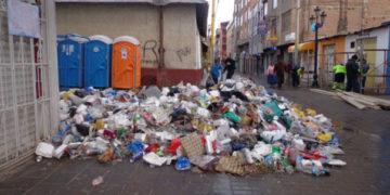 Residuos sólidos en el parque Manuel Pino.