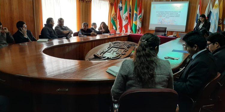 Reunión se llevo en la Municipalidad Provincial de Puno.