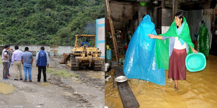 Autoridades vienen realizando trabajos en favor de la población  de Sandia.