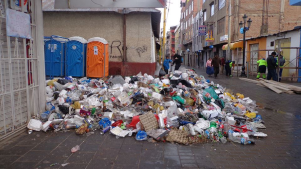 115 toneladas de basura genero las fiestas de fin de año.