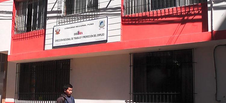Dirección Regional de Trabajo y Promoción del Empleo.