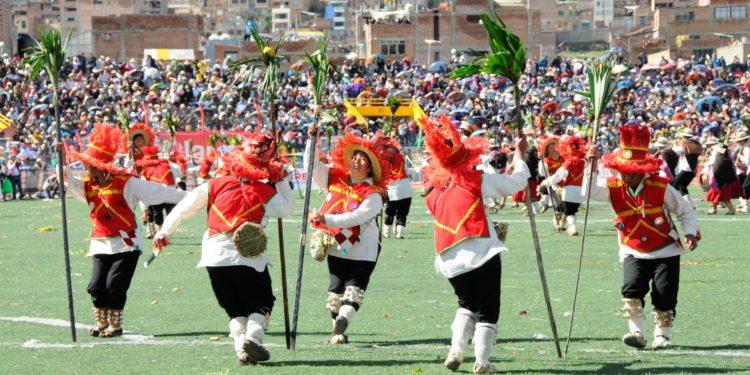 El Ministerio de Cultura reconoció a la danza Chunchos de Esquilaya de Puno como Patrimonio Cultural de la Nación. ANDINA.