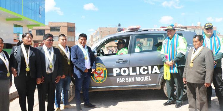 La entrega se realizo a través de una ceremonia con las autoridades de la PNP y San Miguel.