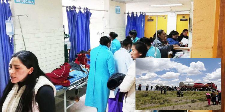 Los heridos vienen siendo atendidos por los galenos del hospital.