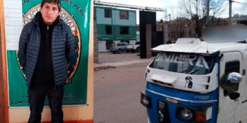 Mototaxista fue trasladado a la comisaria de Juliaca.
