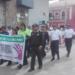 Instituciones se sumaron  a la marcha en contra de la violencia familiar.