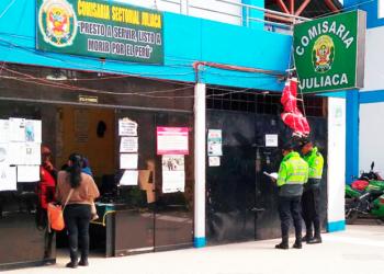 presunto ladrón fue trasladado hasta la comisaria sectorial de Juliaca.
